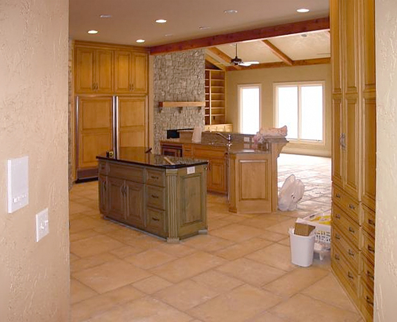 Maple Stained Kitchen Islands 2