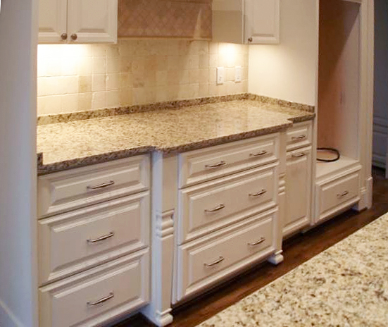 painted & glazed cabinets