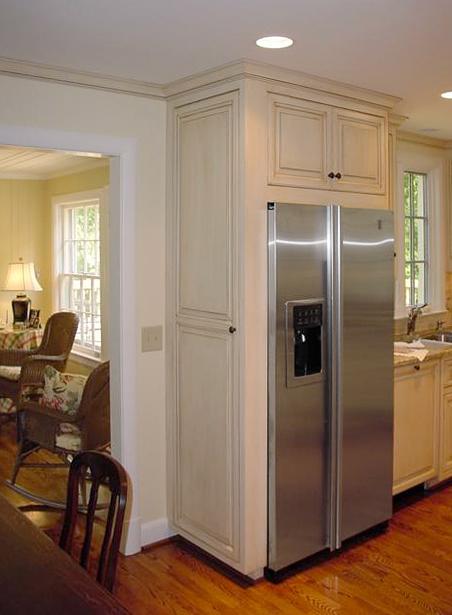 painted & glazed refrigerator cabinet